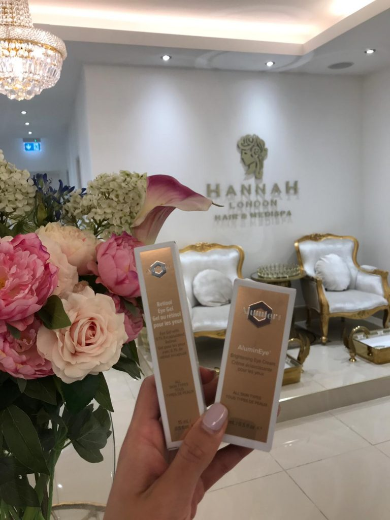 skin peels offer at hannah london showing alumier products in the hannah london medispa in colindale