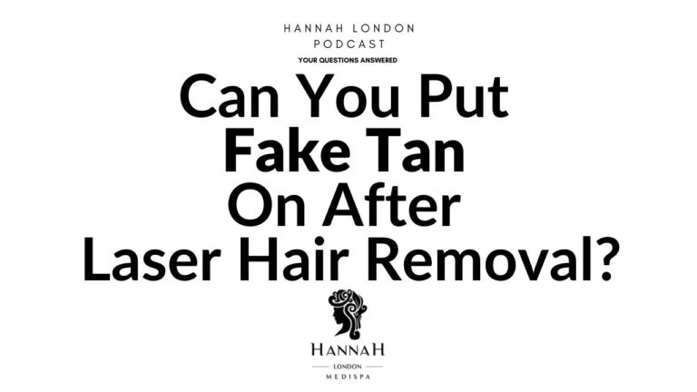 Can You Put Fake Tan On After Laser Hair Removal?
